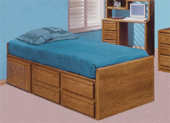 Oak Youth Captain Bed